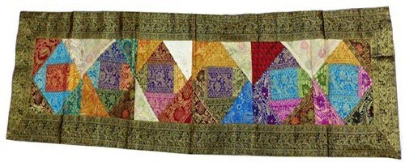 Baba Handicraft Multicolor 60 cm Table Runner(Silk)