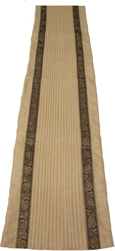 HOME SHINE Beige 90 cm Table Runner(Polyester)