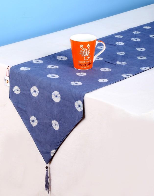 Rajrang Blue 183 cm Table Runner(Cotton)