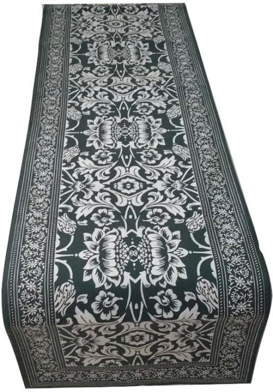 JewelKraft Designs Dark Blue 90 cm Table Runner(Cotton)