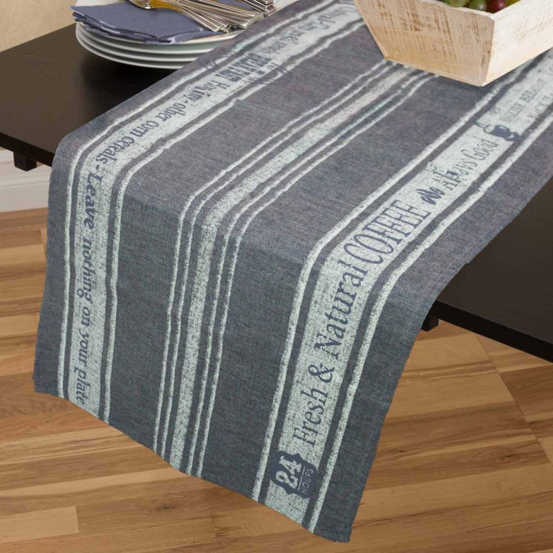 Rhome Grey 45 cm Table Runner(Cotton)