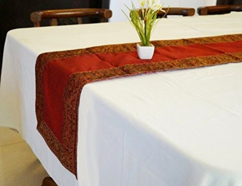 Indha Craft Maroon 182.9 cm Table Runner(Polyester)