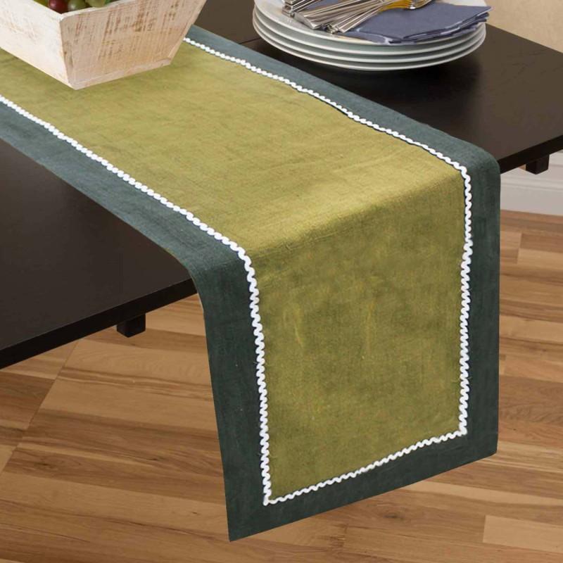 Rhome Multicolor 40 cm Table Runner(Linen)