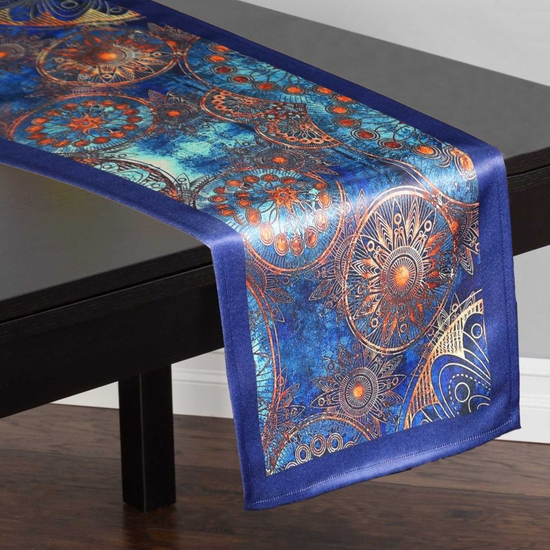 Lushomes Multicolor 180 cm Table Runner(Polyester)