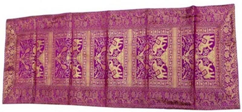 Baba Handicraft Multicolor 60 cm Table Runner(Silk)