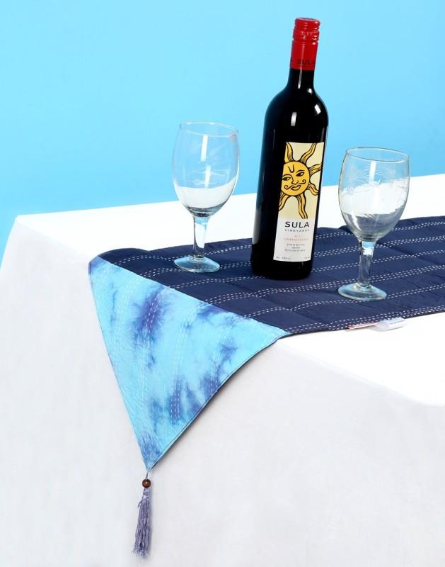 Rajrang Blue 178 cm Table Runner(Cotton)