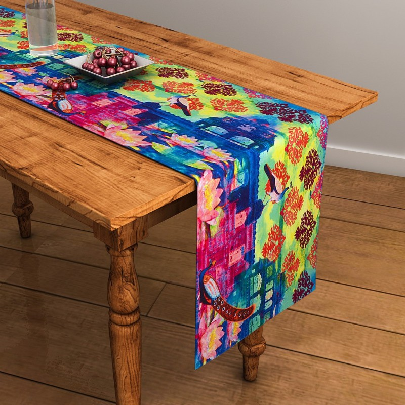 SEJ by Nisha Gupta Multicolor 120 cm Table Runner(Cotton)