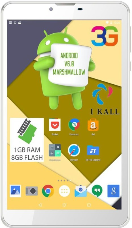 I Kall N9 8 GB 7 inch with Wi-Fi+3G Tablet (White)