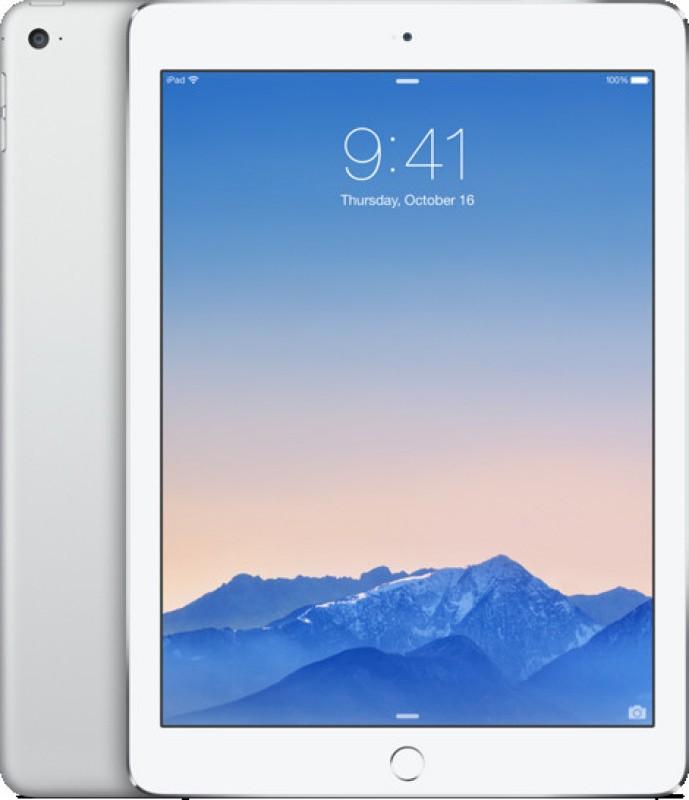 Apple iPad Air 2 128 GB 9.7 inch with Wi-Fi Only(Silver) iPad Air 2 MGTY2HN/A