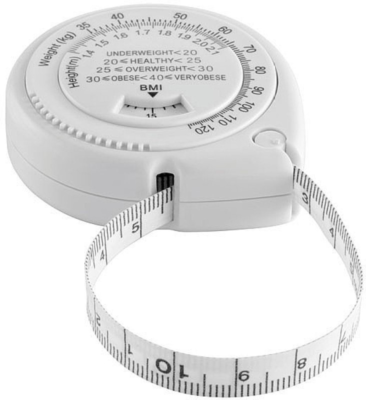 Futaba BMI Calculator body measure Lead Tape(White)