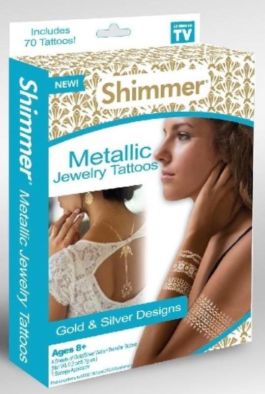 IBS Metallic Shimmer Temporary Tattoo Kit