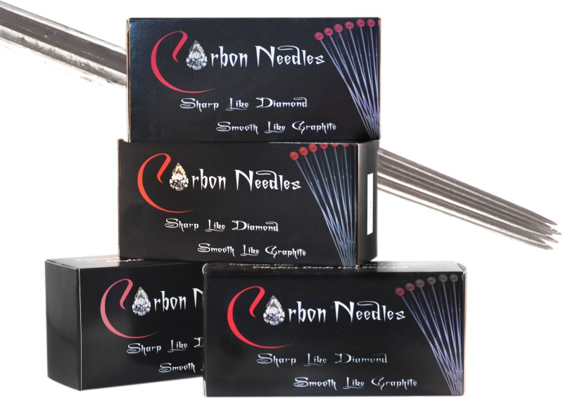 Carbon Needles 4RL Disposable Round Liner Tattoo Needles(Pack of 50)