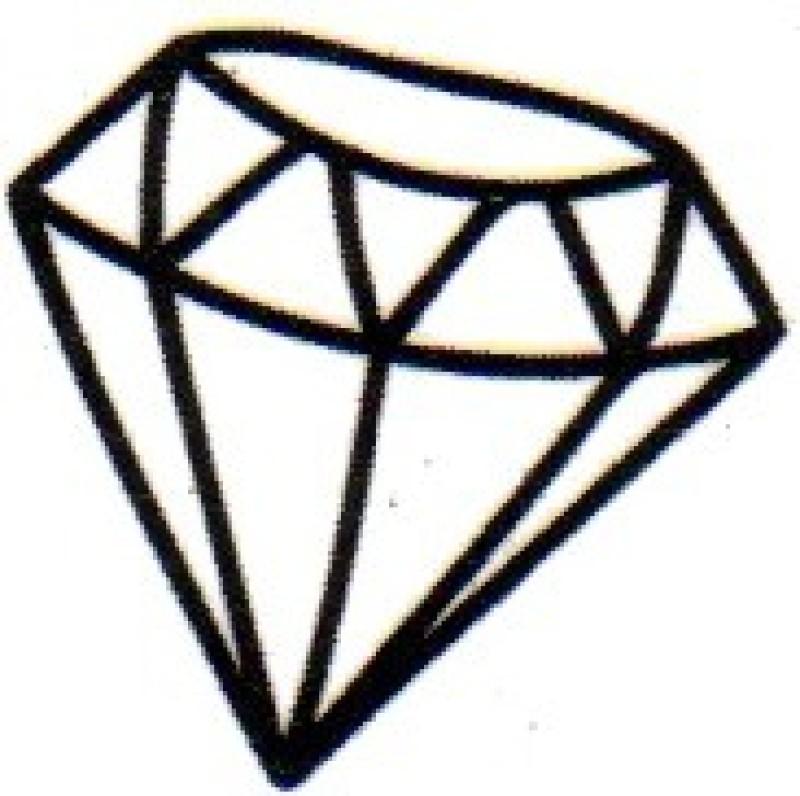 Smilendeal T1642 Removeable Temp Body Tattoo - Diamond Style(Diamond)