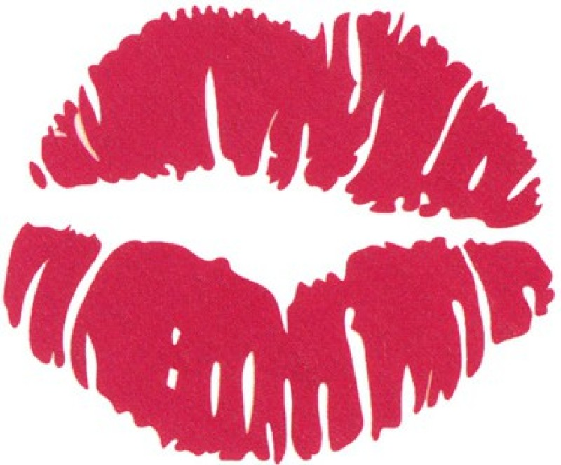 Smilendeal T1895 Red Lips Temp Body Tattoo(Red Lips)