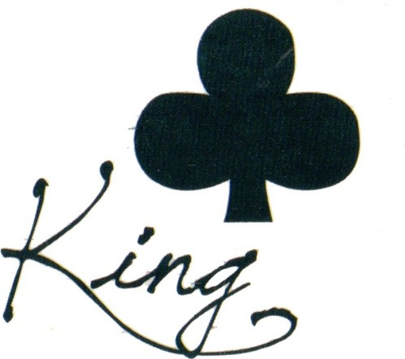 Smilendeal T1763 Removeable Temp Body Tattoo - King Style(King)