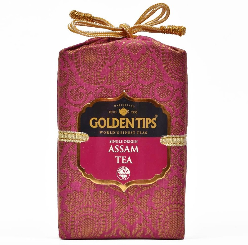 Golden Tips Brocade Bag Tea Black Tea Pouch(100 g)