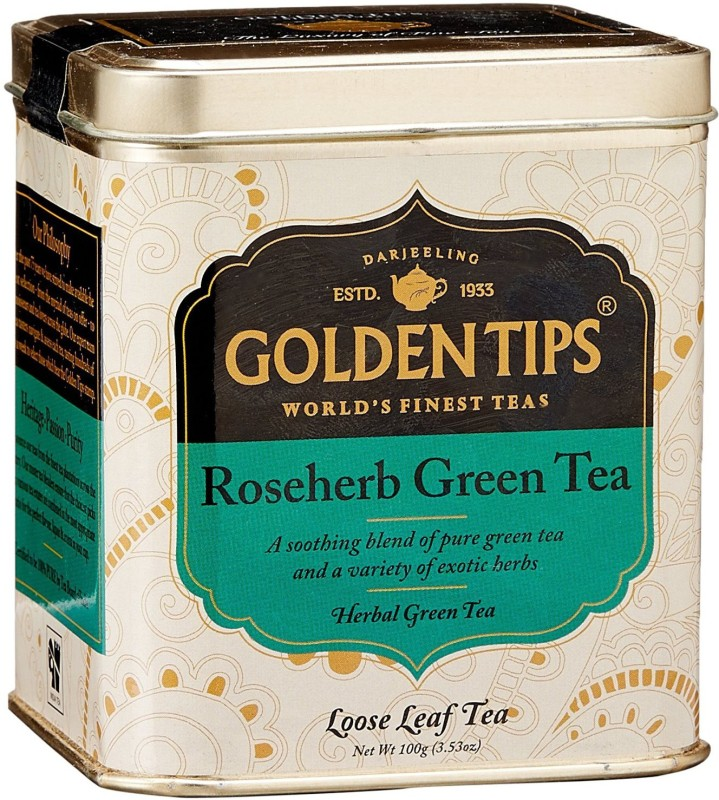 Golden Tips GTL12 Rose Green Tea Tin(1 Sachets)