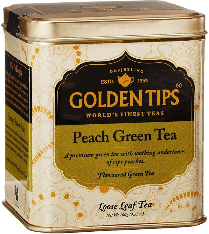 Golden Tips GTL8 Peach Green Tea Tin(1 Sachets)