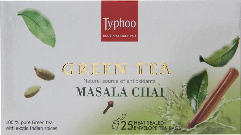 Typhoo Green Tea Ginger, Cinnamon, Cardamom, Black Pepper, Cloves Masala Tea(75 Sachets, Bag)
