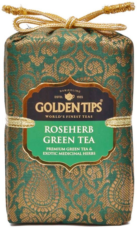 Golden Tips Brocade Bag Tea Green Tea Pouch(100 g)