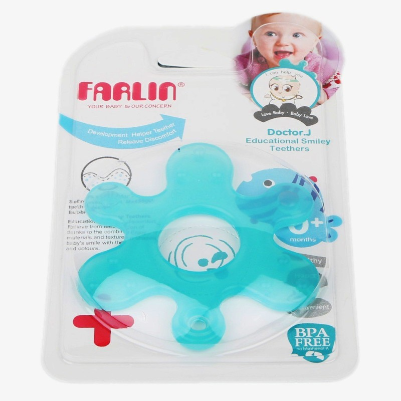 Farlin Farlin Educational Smiley Teethers Teether(Blue)