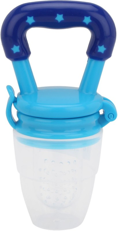 Maxbell Silicone Baby Food Fruit Vegetables Teething Feeder Pacifires Feeder(Blue)