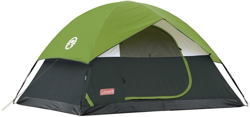 Coleman Camping Sundome 9 feet. X 7 feet. Centre Height: 4.11 feet Tent - For 4 Persons(Black, Green)