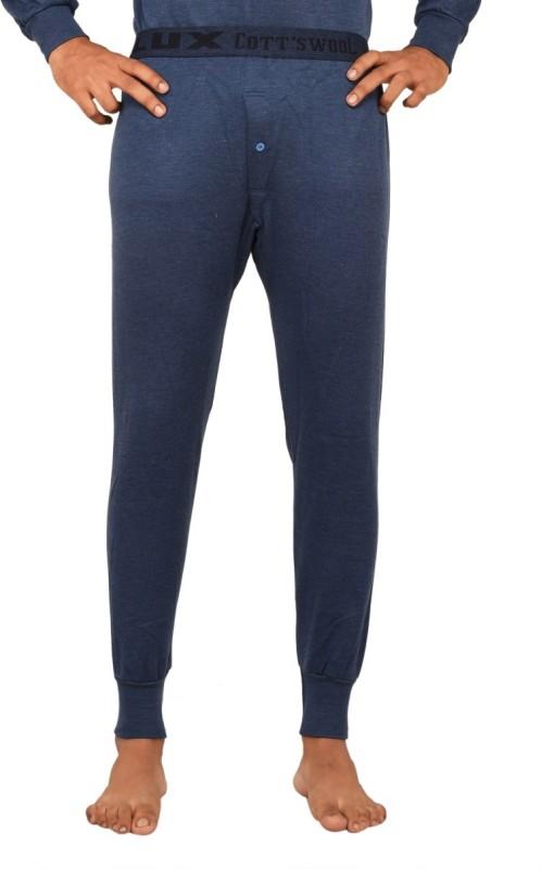 Lux Cottswool Blue Thermal Mens Pyjama