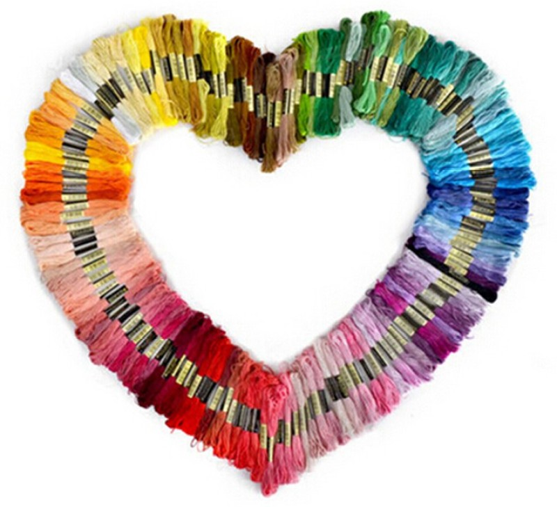 Vardhman multicolor Thread(8 m Pack of100)