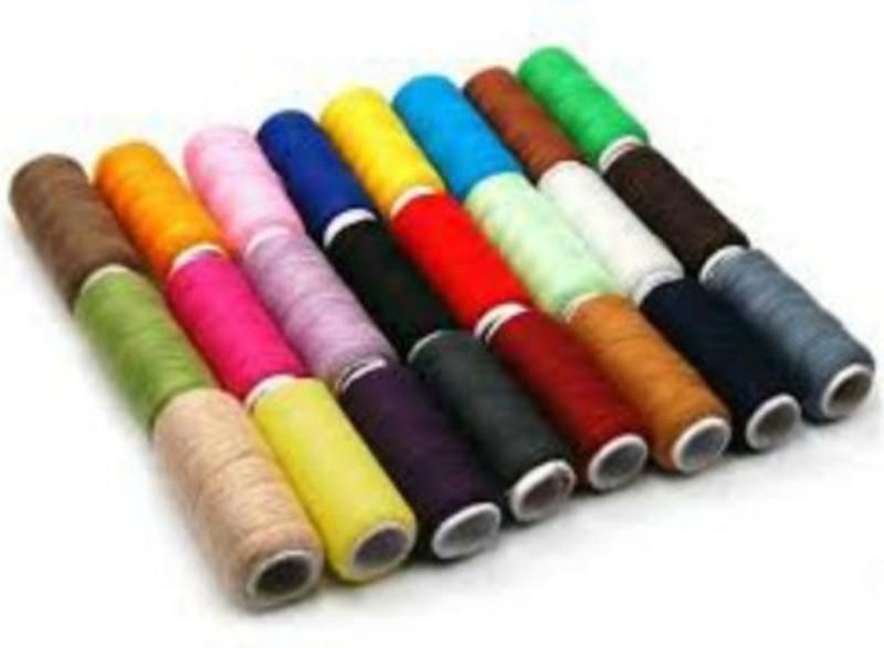 SIDHIVINAYAK ENTERPRISES Multicolors Thread(800 m Pack of24)