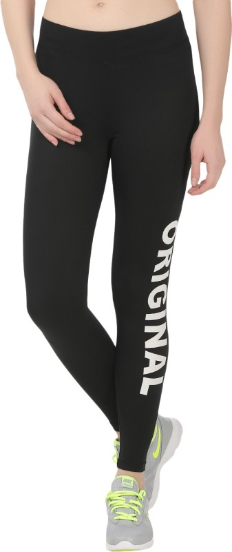 Onesport Solid Women's Black Tights