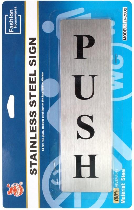 Zhengtu Stainless Steel PUSH Metal Signage Board Sign(1)