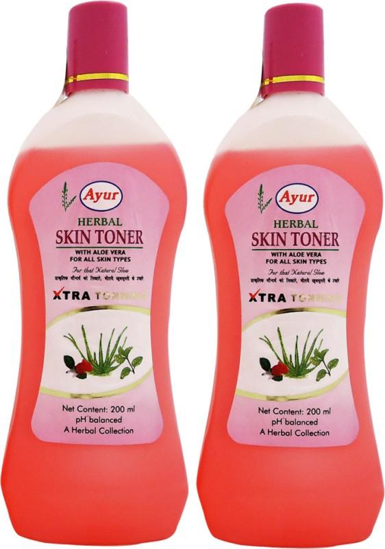 Ayur Skin Toner Pack of 2(400 ml)