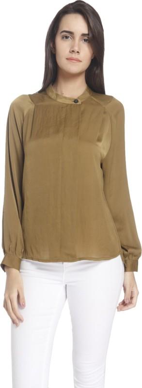 Vero Moda Casual Full Sleeve Solid Women's Brown Top