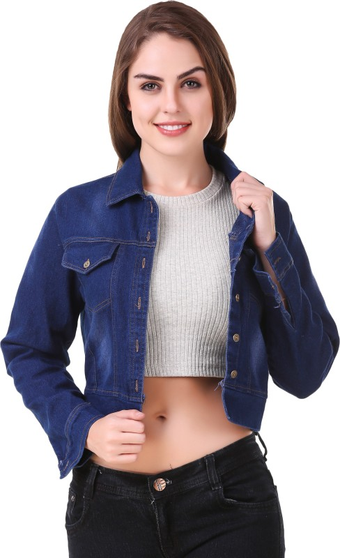 Big Pout Full Sleeve Solid Women Denim Jacket