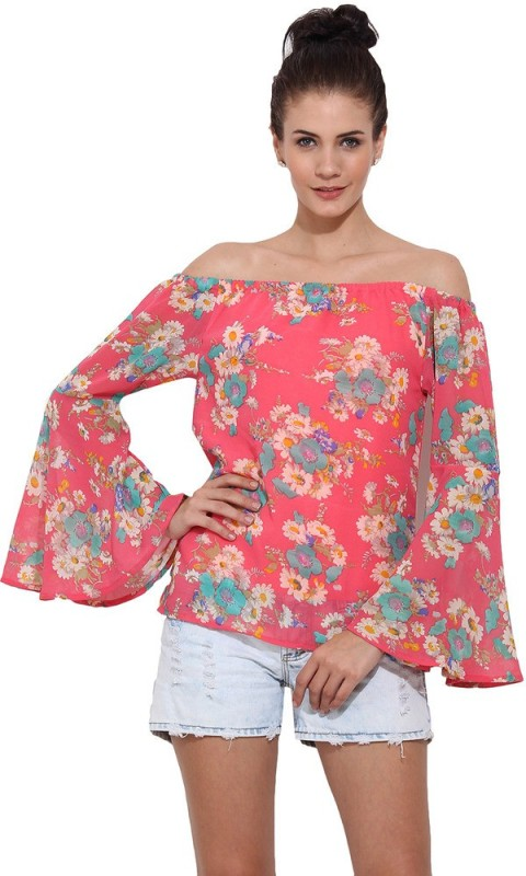Trend Arrest Casual Full Sleeve Floral Print Women Pink Top