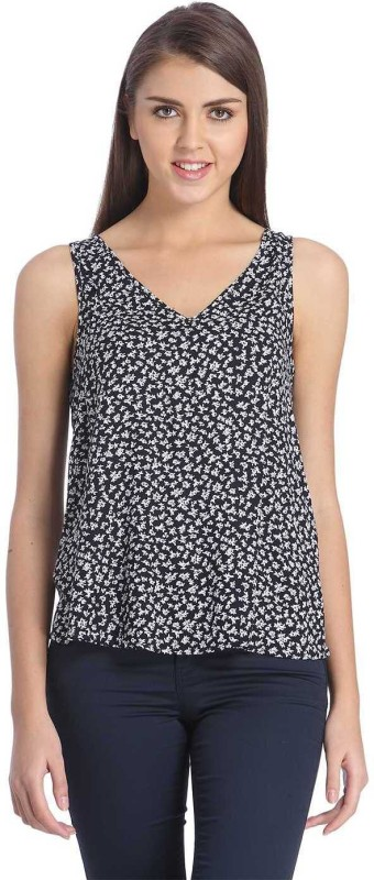 Only Casual Sleeveless Floral Print Women White, Black Top