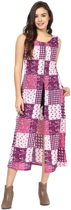 Abiti Bella Party Sleeveless Geometric Print Women Pink Top