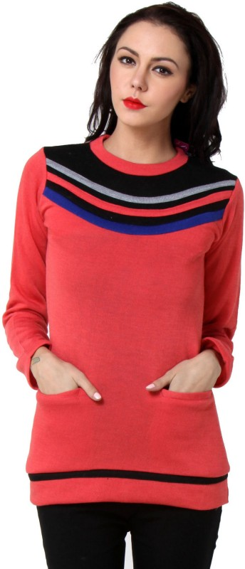 TeeMoods Casual Full Sleeve Solid Women Pink Top