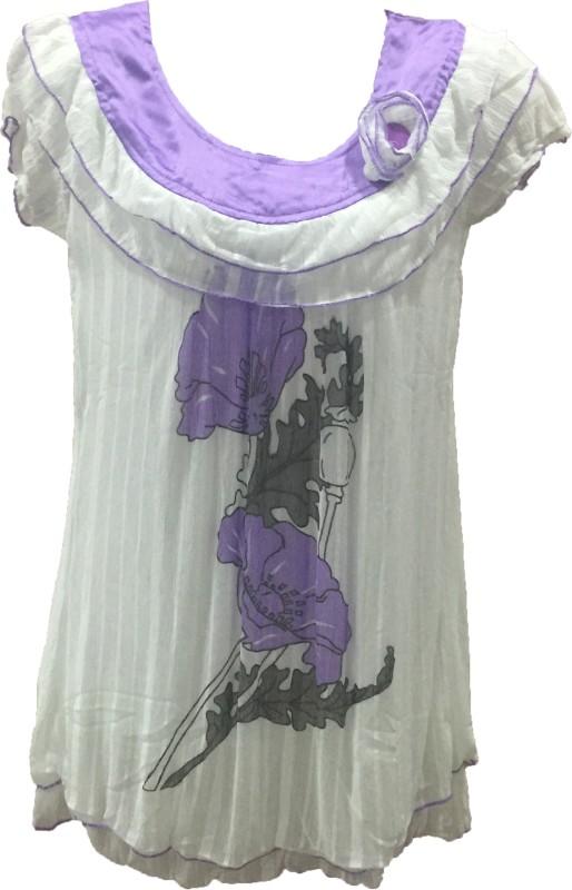 Dovekie Casual Short Sleeve Floral Print Women Multicolor Top