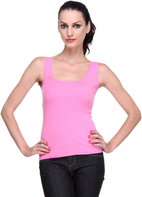 Bonita Casual Sleeveless Solid Women Pink Top