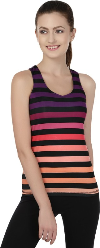 Fitrr Casual Sleeveless Striped Women Multicolor Top