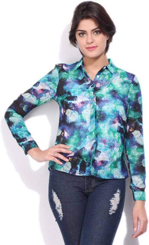 Allen Solly Womens Casual Multicolor Shirt