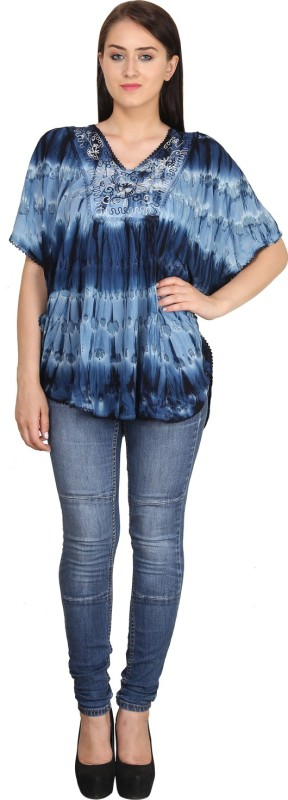 612d1ad4cf8269 Indian Fashion Guru Casual Butterfly Sleeve Printed Womens Multicolor Top