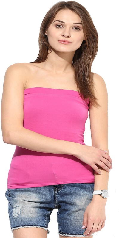 Espresso Casual Sleeveless Solid Women Pink Top