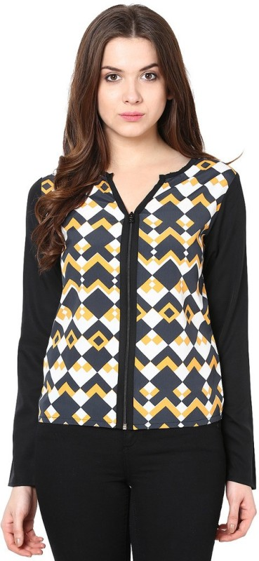 Abiti Bella Casual Full Sleeve Geometric Print Women Multicolor Top