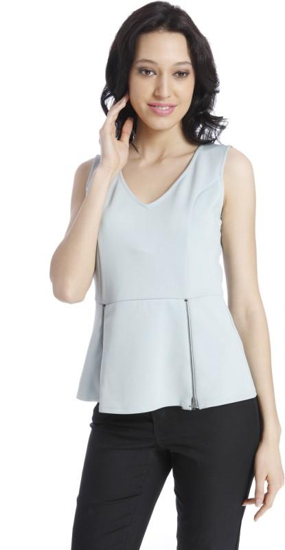 Vero Moda Casual Sleeveless Solid Women's Grey Top