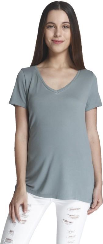 Vero Moda Casual Short Sleeve Solid Women's Green Top