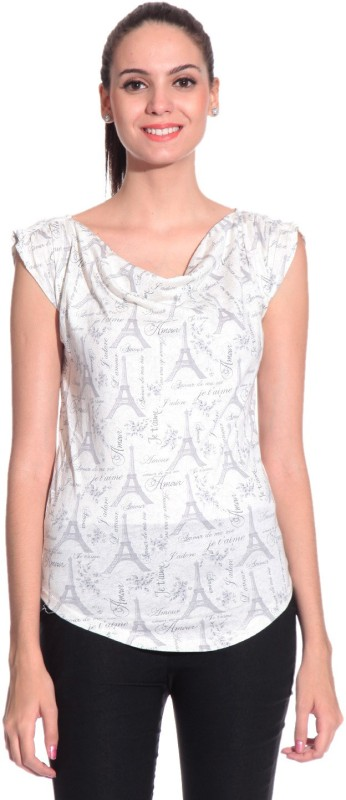 Styleava Casual Sleeveless Solid Women White Top