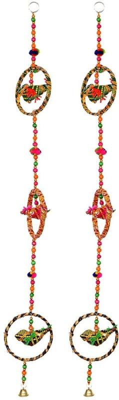 Little Jaipur Fabric Bird Door Hanging Set Toran(Fabric)